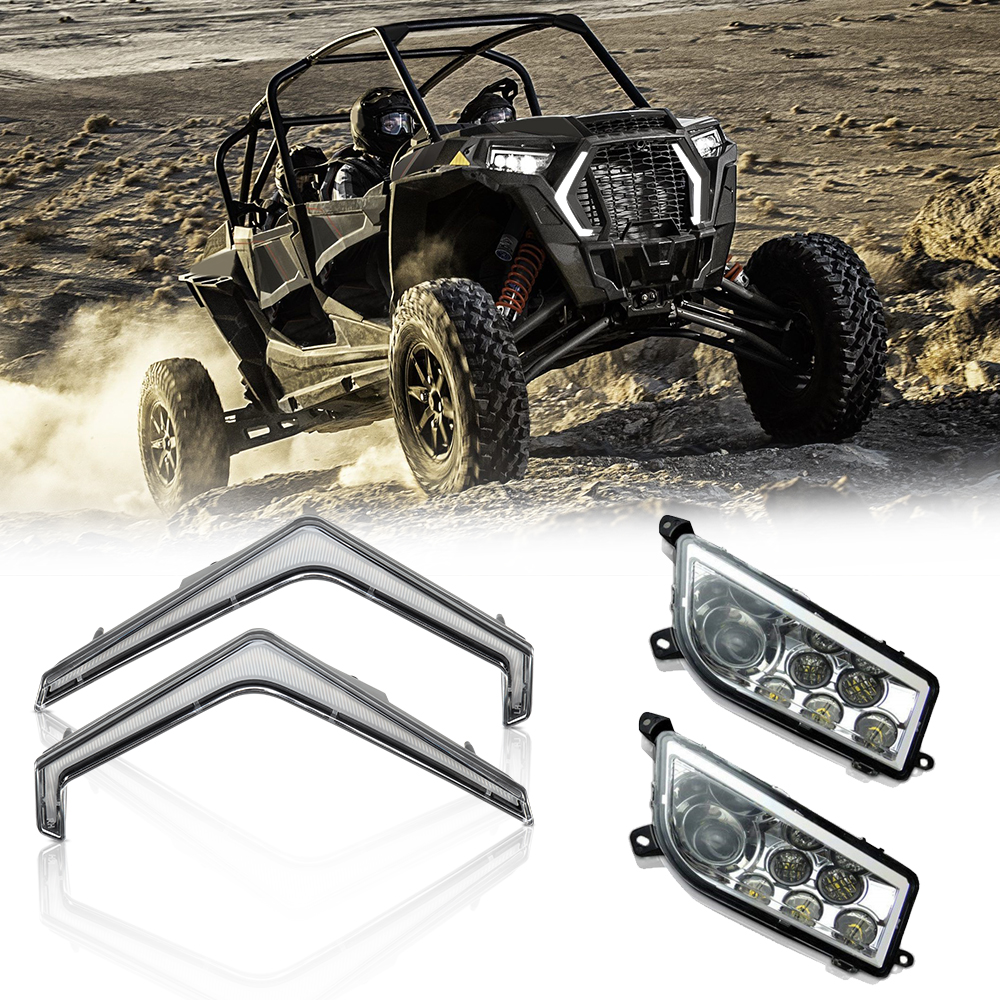 UTV LED Front Lights Turn Signal Light Signature Headlight For Polaris RZR XP 1000 4 1000 Turbo 2019 RZR 4 Turbo S 2018-2019