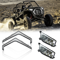 UTV LED Front Lights Turn Signal Light Signature Headlight For Polaris RZR XP 1000 4 1000 Turbo 2019 RZR 4 Turbo S 2018 2019