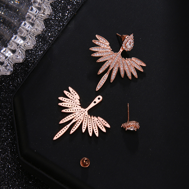 Luxury Trendy Marquise Flower  Pave Crystal Drop Earring  5