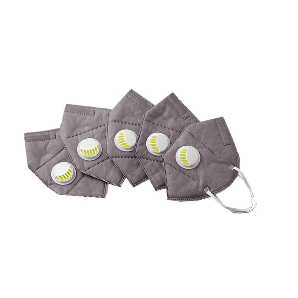 Masks Mascarilla Coronavirus Breathing Valve 5PCS Reusable Filter Respirator Mask Tapabocas Masque Mascherina Quick Delivery