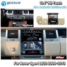 Para Range Rover Sport 2009, 2010, 2011, 2012, 2013 Radio de coche Android HD navegación GPS de pantalla unique estilo Multiemdia sistema