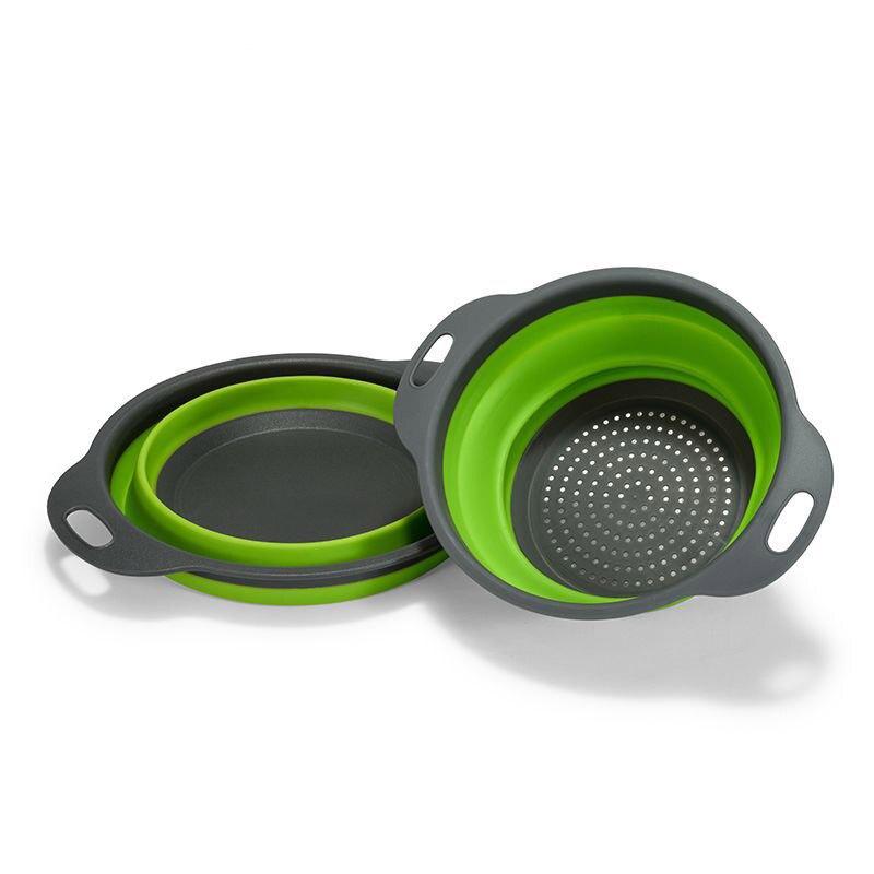 Герметичная Выдвижная силиконовая корзина для мытья посуды, фильтр, складной Слив с ручкой, кухонный инструмент для хранения