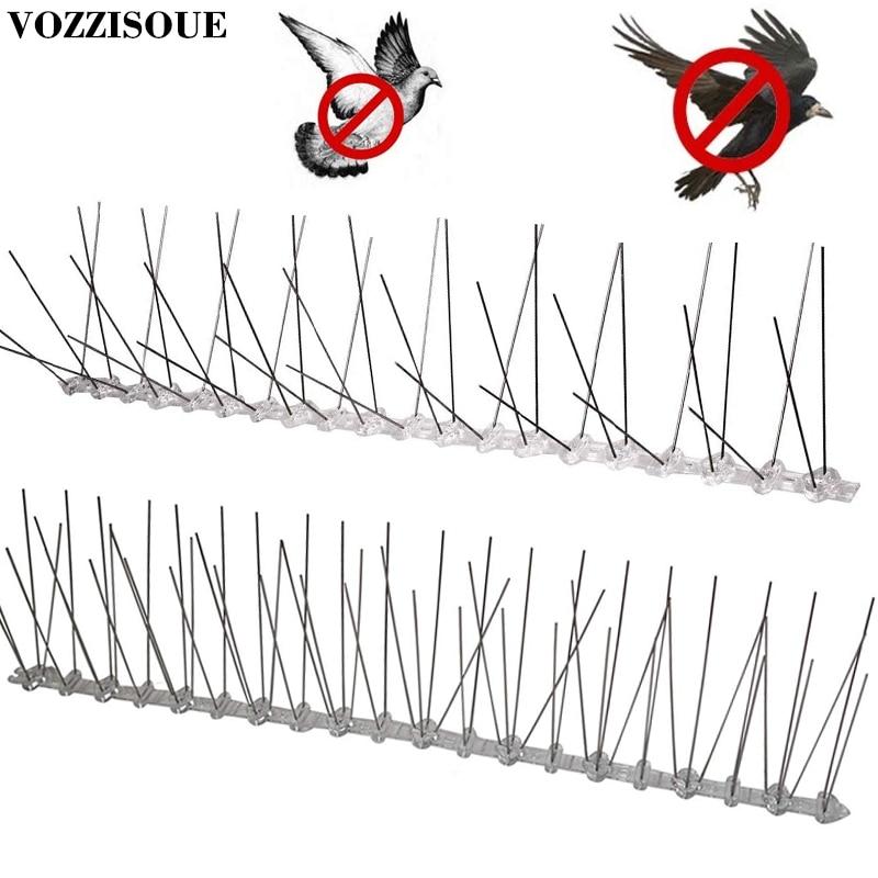 Hot Sale Plastic Repeller Bird And Pigeon Spikes Deterrent Anti Bird Stainless Steel Spike Strip Bird Scarer Repeller For Pigeon