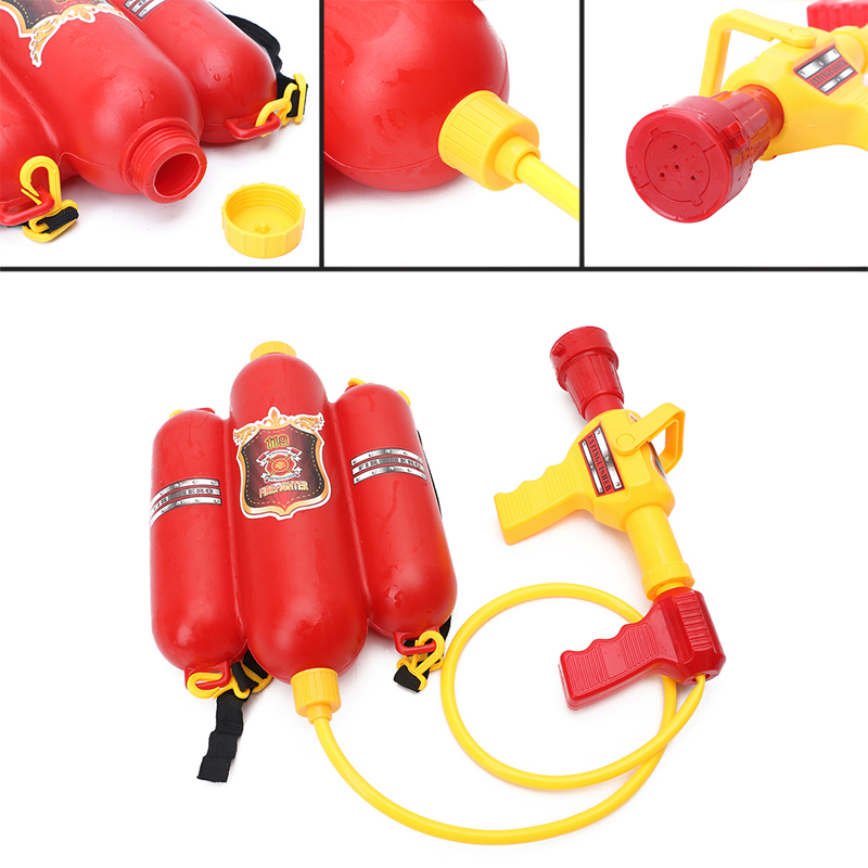 1Set Children Fireman Backpack Nozzle Water Gun Toy Extinguisher Soaker For Baby Beach Outdoor Game Toy