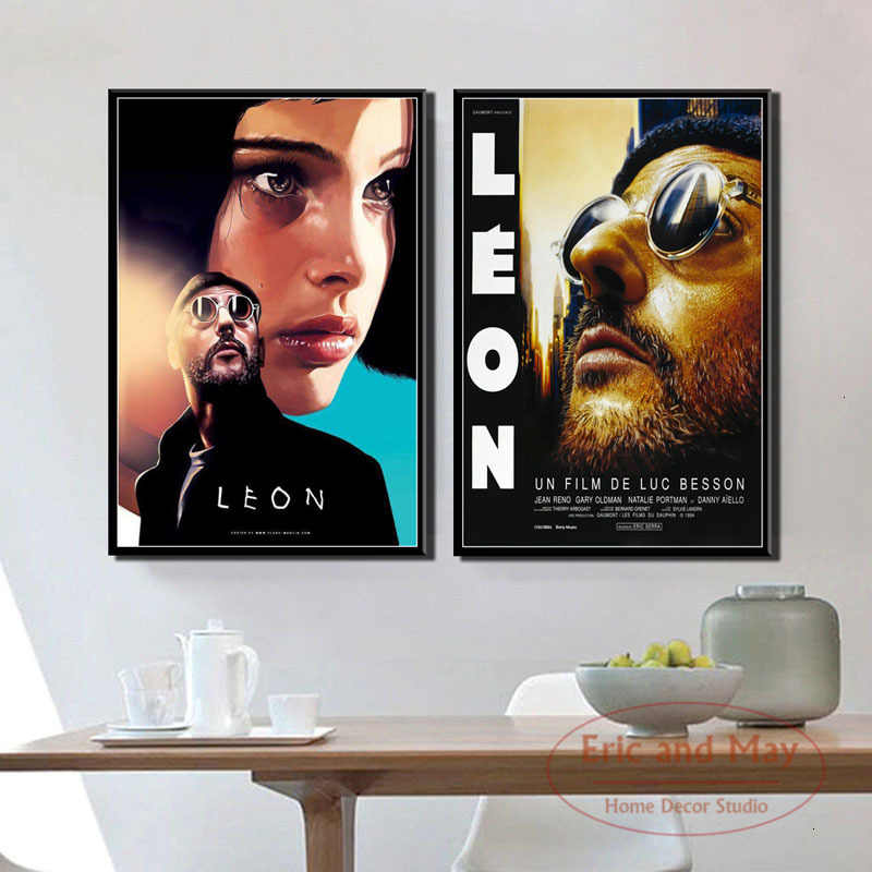 Leon Classic Movie Art Painting Vintage Canvas Poster Wall Home Decor