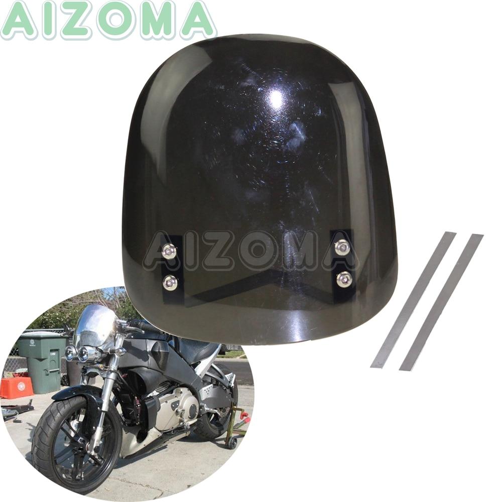 Motorcycle Spiked Black Windscreen Bolt Screw Kit 6 Pieces Sport Bike Cruiser