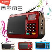 Rolton W405 Mini Portable FM Radio USB TF Radios Set Receiver Speaker Mp3 Music Player With LED Flashlight For PC IPod Phone