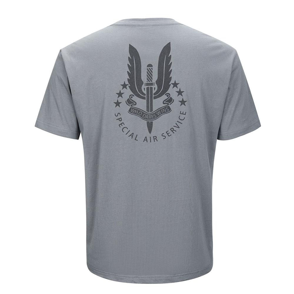 Men's Summer Sports Short Sleeved Tactical Style  T-shirt Cotton Short Men's T-shirt Clothes SAS