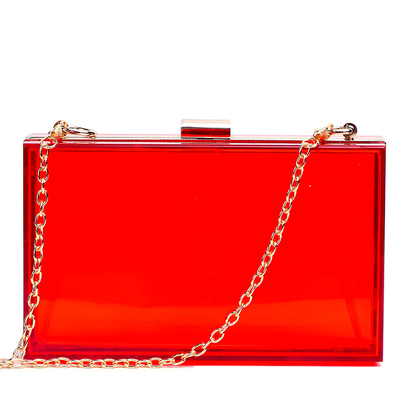 Image 4 - Transparent Acrylic Bags Clear Clutch Purses Box Women Shoulder Bags Day Clutches Bags Wedding Party Evening Clutches HandbagsClutches   -