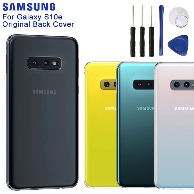 SAMSUNG Original Back Cover Phone Rear Panel For Samsung GALAXYGalaxy S10E S10 E SM-G9700 G9700 SM-G970F G970U Battery Rear Door image