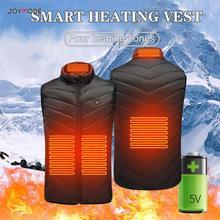 Уличный мужской жилет с электрическим подогревом, USB нагревательный жилет, зимняя Тепловая ткань, перо, горячая Распродажа, походная теплая куртка для охоты