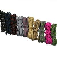 Coolstring-zapatos de senderismo de cuerda redonda para hombre y mujer, calzado resistente a la ropa rayada, bota con cordones