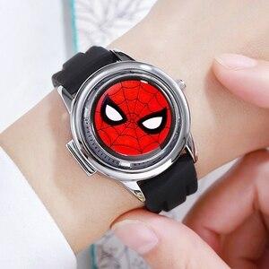 Image 5 - Marvel Avengers Super Hero Eisen Männer Kinder Quarz Wasserdichte Flip Uhr Kind Uhren Für Kid Studenten Uhr Junge Geschenk Drehbare