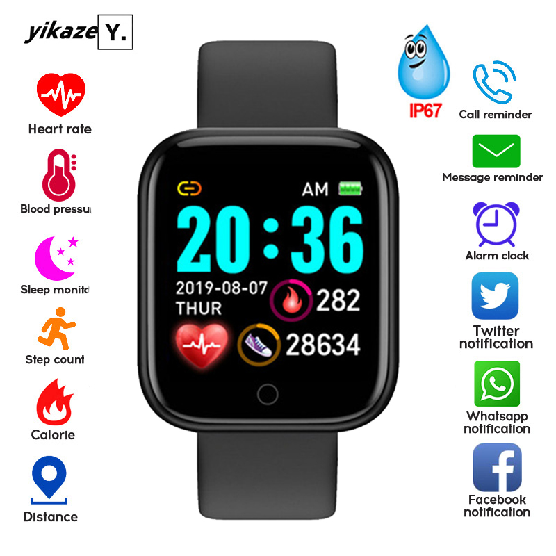 D20 Smart Watch Men Women Smartwatch Blood Pressure Monitor Waterproof Smart Watches Heart Rate Tracker Clock For Android IOS(China)