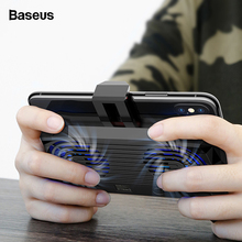 Baseus Handy Kühler Für iPhone Xs Max Xr X Samsung S10 S9 Gamepad Spiel Halter Stehen Kühlung Controller Unterstützung lade