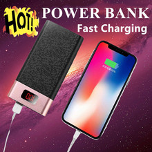 Quick Charge 3.0 10000mAh Power Bank LCD 10000 mAh QC3.0 Fast Powerbank Portable External Battery Charger For I