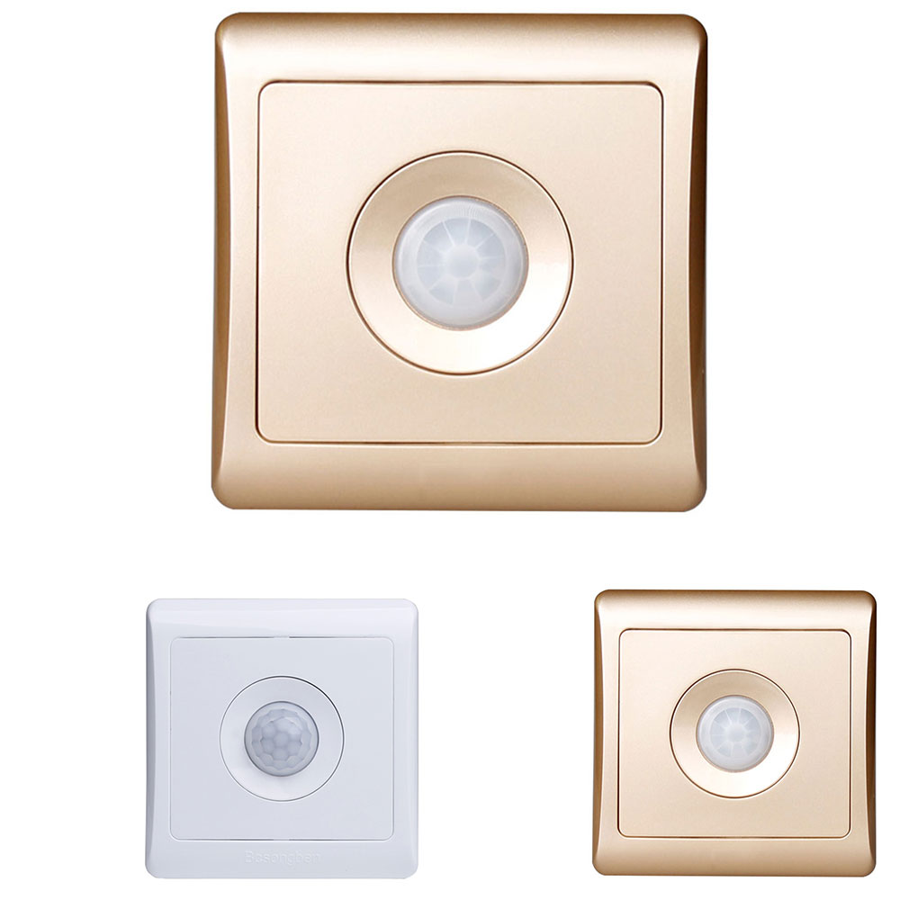 UK Standard 220v 86 Motion Sensor Switch Wall Mounted Smart Infrared Control Energy-saving Lamps Supplies