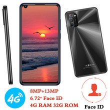 4G LTE M3 4G RAM+32G ROM 6.72 inch Android Face ID Mobile Phones Front/Back Camera Celuares Global Smartphones 8MP+13MP Unlocked
