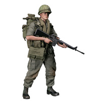 15cm 1/12 Action Figure Realistic Headsculpt DIY Handmade Pocket Elite Series Army 25th Infantry Division Private Soldier Model