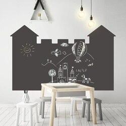 Самоклеящаяся виниловая мельная доска 120x85 см, настенная наклейка, съемная доска для записей, доски, обои для офиса, школы, дома