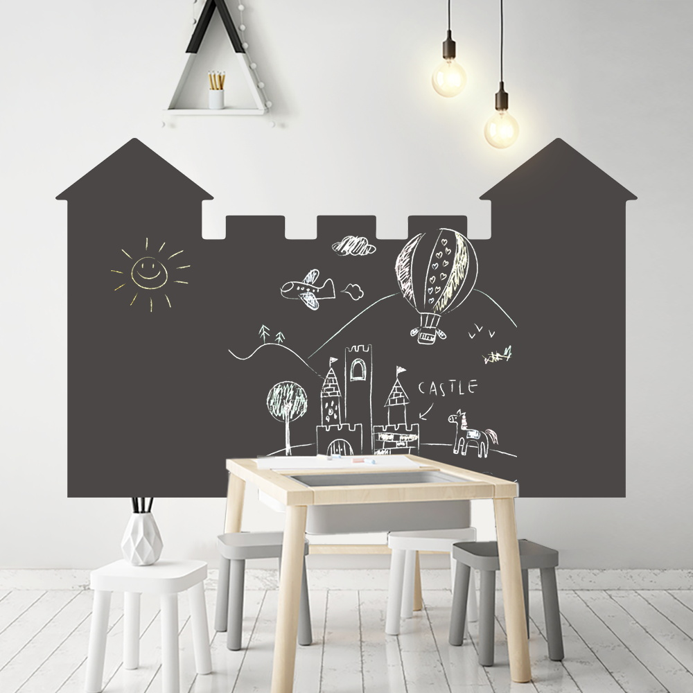 120x85cm Self Adhesive Vinyl Chalkboard Wall Sticker Removable Draw Memo Message Blackboard Wallpaper Office School Home Supply