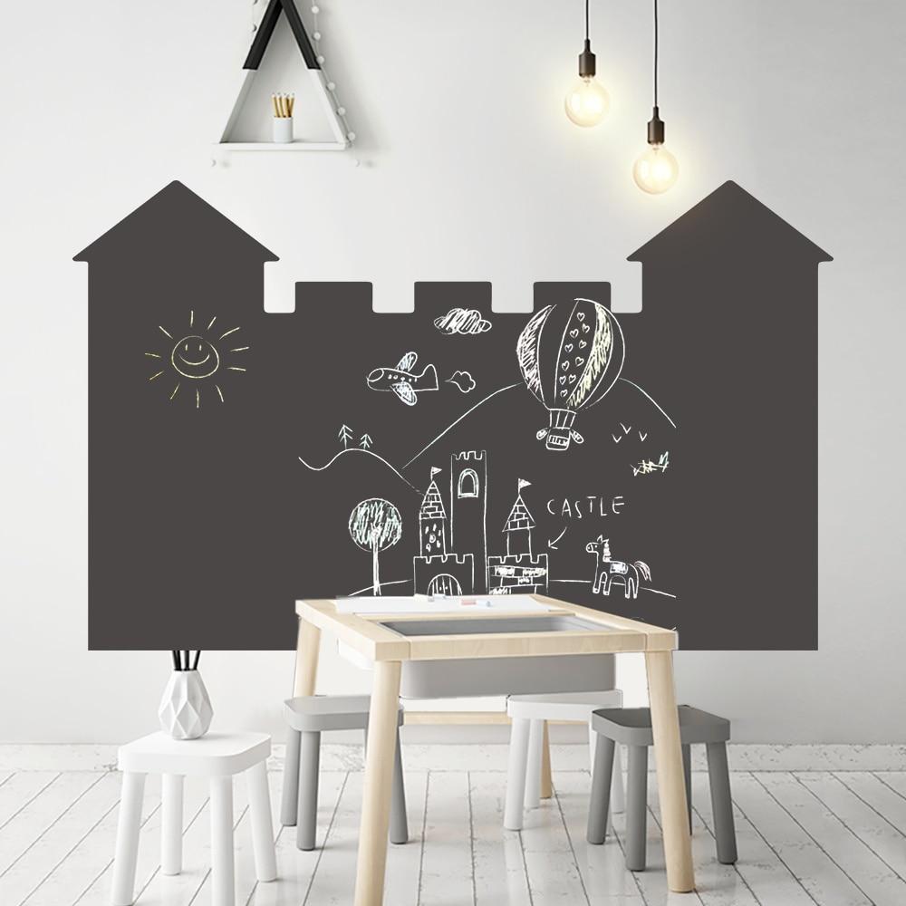 120x85cm Self Adhesive Vinyl Chalkboard Wall Sticker Removable Draw Memo Message Blackboard Wallpaper Office School Home Supply