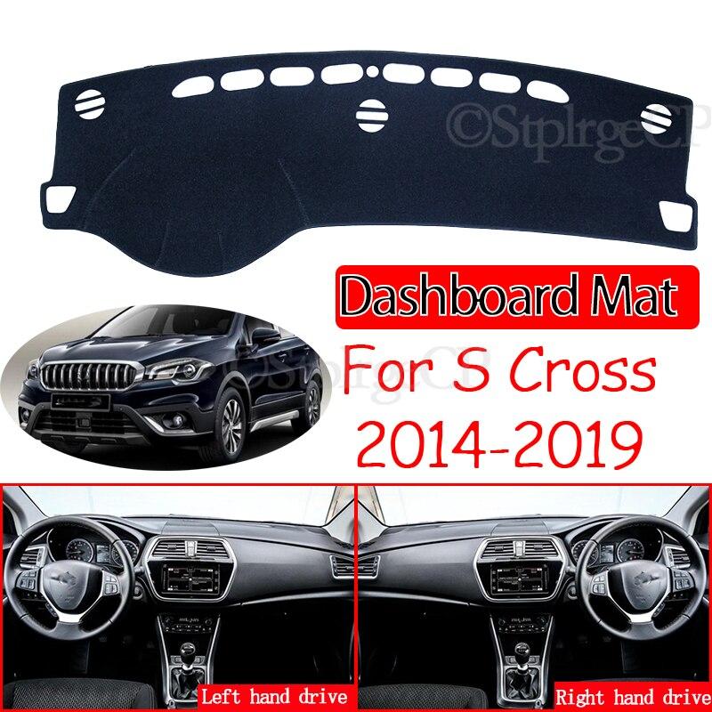Противоскользящий коврик для Suzuki SX4 S-Cross 2014 ~ 2019, Накладка для приборной панели, солнцезащитный козырек, аксессуары для Maruti SX-4 SX 4 S Cross SCross