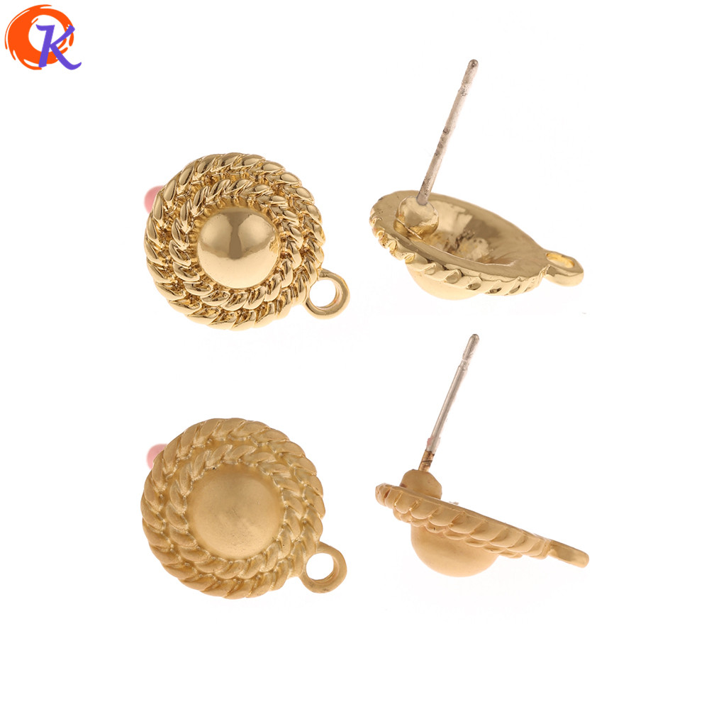 Cordial Design 100Pcs 12*15MM Earrings Stud/Jewelry Accessories/Round Shape/DIY Jewelry Making/Hand Made/Earring Findings