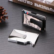 Clipe de Metal Carteira RFID Equipamentos Fãs Do Exército Tático Multi-Função Pacote de Cartões de Carteira