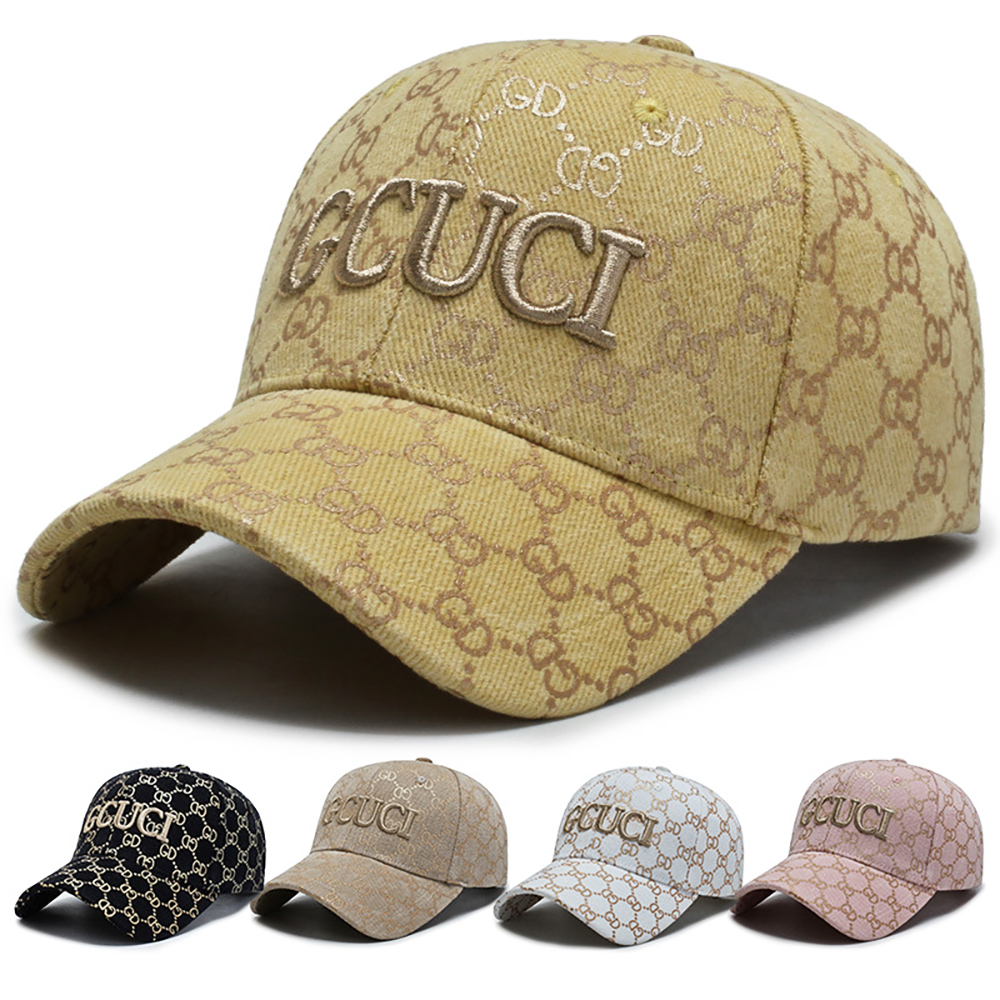 2020 GCUCI Canvas Hat Outdoor Peaked Cap Unisex Sun Hat Stripe Baseball Cap Czapka Z Daszkiem Large Size Baseball Caps