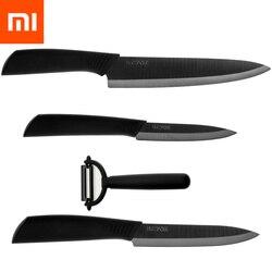 Original Xiaomi Mijia Smart Home Huohou Kitchen Knife Mijia Nano-Ceramic Knives Cook Set 4 6 8 Inch Furnace Thinner for Family