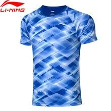 Li-Ning мужские топы для соревнований по бадминтону на сухих дышащие футболки полиэстеровый обычный подкладочный спортивный тройник AAYP281 COND19