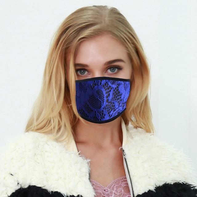 4PC Women Dust Sand Sunscreen Applique Face Cycling Breathable Mask Cotton Dustproof Anime Cartoon Kpop madque lavable#w 3