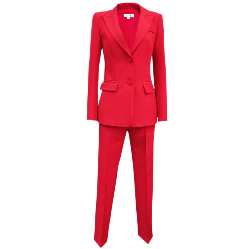 Temperament Women's Suits Pants Suit 2019 Fashion Slim Elegant Office Ladies Blazer Women's Casual Trousers Two-piece Set
