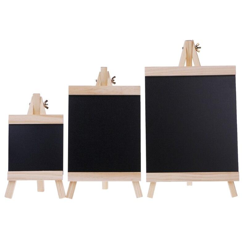 Desktop Message Blackboard Easel Chalkboard Kids Wood Writing Boards Collapsible AXYF