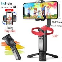 Estabilizador handheld do cardan 3-eixo do smartphone para iphone12 11pro/max samsung huaiwei, youtube tiktok vlog ao vivo hohem isconstante x