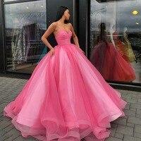 ball gown Evening Dress Sexy Backless Princess Prom Dress Gala Party Wear Long Dubai Formal Gowns 2020 abiti da cerimonia