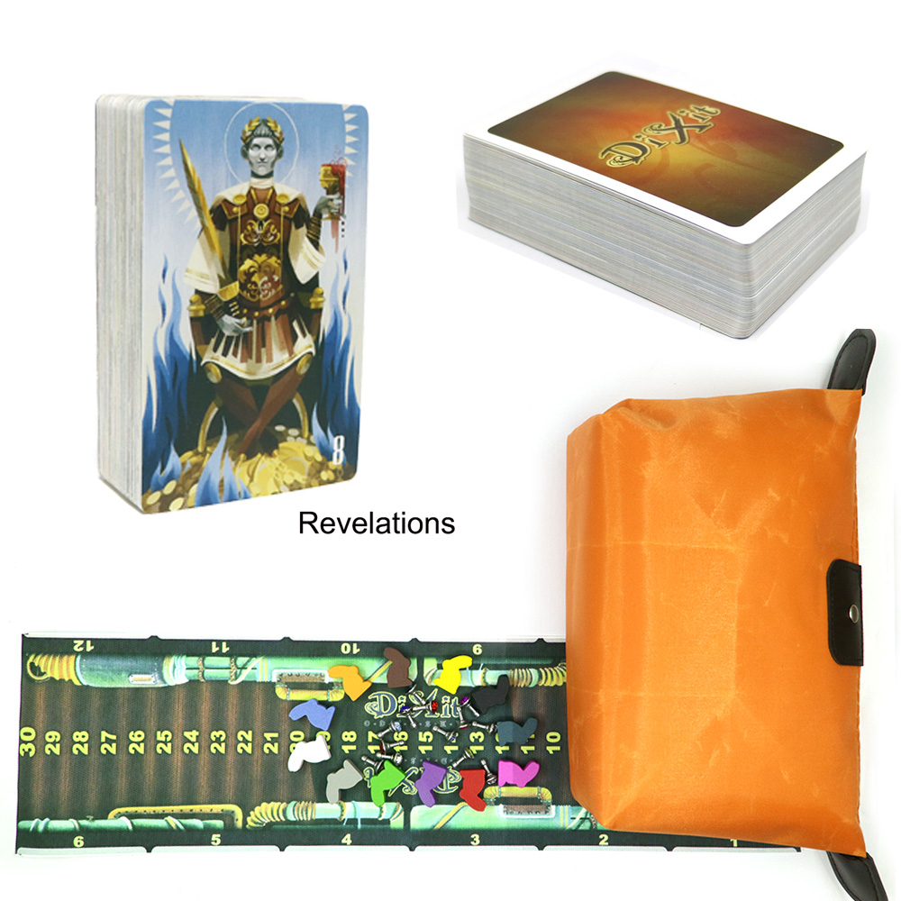 Dixit Card Game Dixit Expansion 8 Revelations Wooden Rabbits 84 Cards For Family Party Table Game Kids Toys Education Board Game