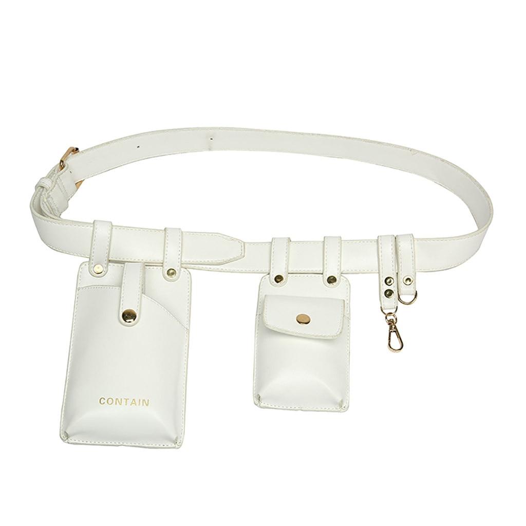 Women Fashion Wasit Packs For Men And Women's Single Leather Waist Bag  Sport Female Bag Waist Pocket Bag Hasp Chest Bag