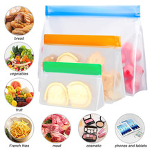 PEVA Food Storage Bag Upgrade Leakproof Top Stand Up Reusable Freezer Bags Vegetable and Fruit Storage Bag 4pcs lot reusable seal food freezer bag vacuum sealer fruit meat cake nuts storage bags food freezer storage container