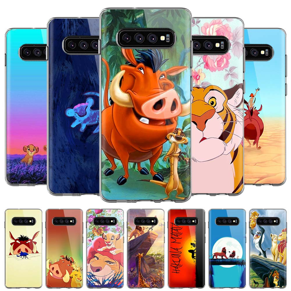 The <font><b>Lion</b></font> <font><b>King</b></font> <font><b>Hakuna</b></font> <font><b>Matata</b></font> Soft Case For Samsung Galaxy S10 S10E Note 10 S10 Plus S8 S9 Plus S7 Edge Silicone Cover image
