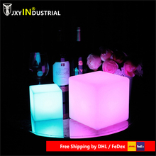 Outdoor Led illuminated Furniture Cube Chair Bar Light Party Wedding KTV Pub Bar Luminous led Cube Stool Chair Light 30cm led light cube lumineux led rechargeable cube illuminated cube chair free shipping