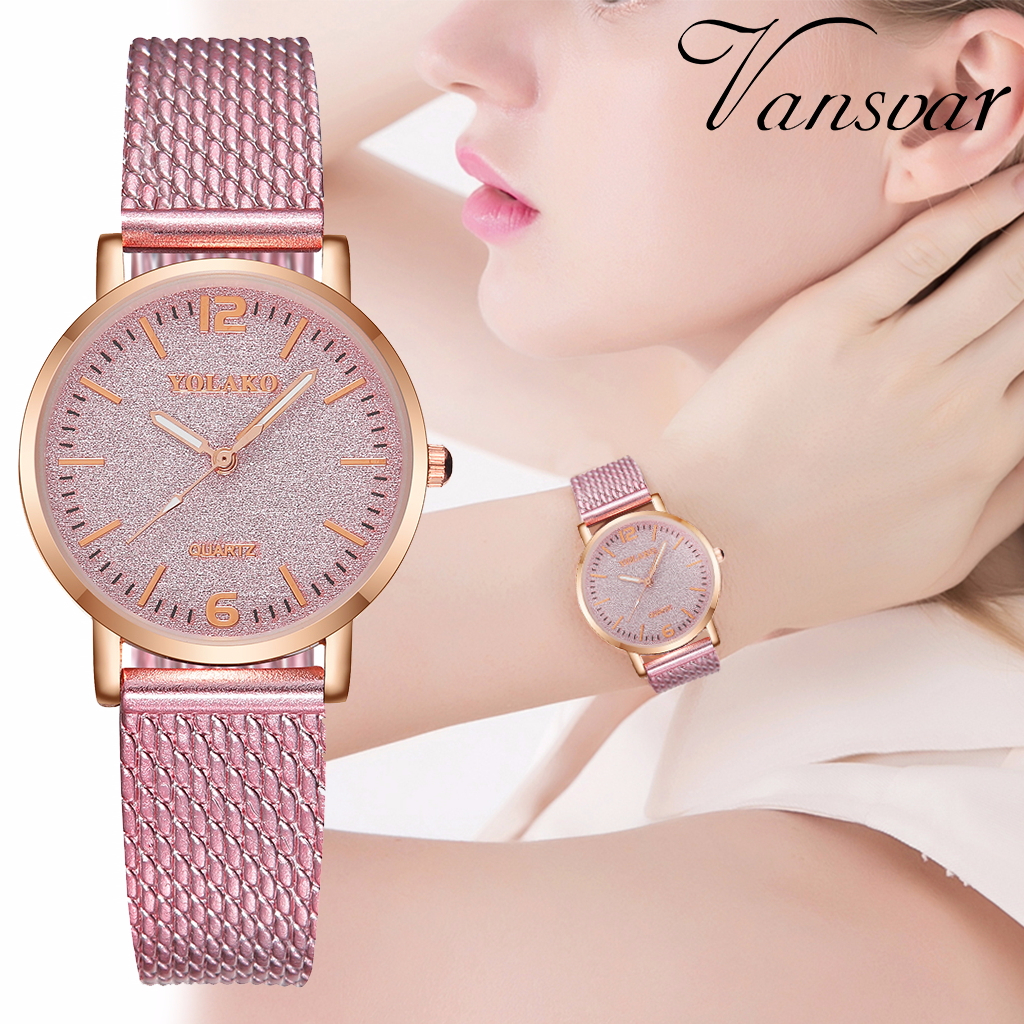 Women Plastic Leather Starry Sky Watch Casual Luxury Ladies Quartz Watch YOLAKO Brand Relogio Feminino