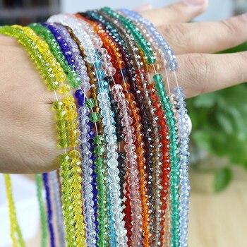 Perlas de cristal Rondelle de ZHUBI, cuentas redondas de facetado de cristal...