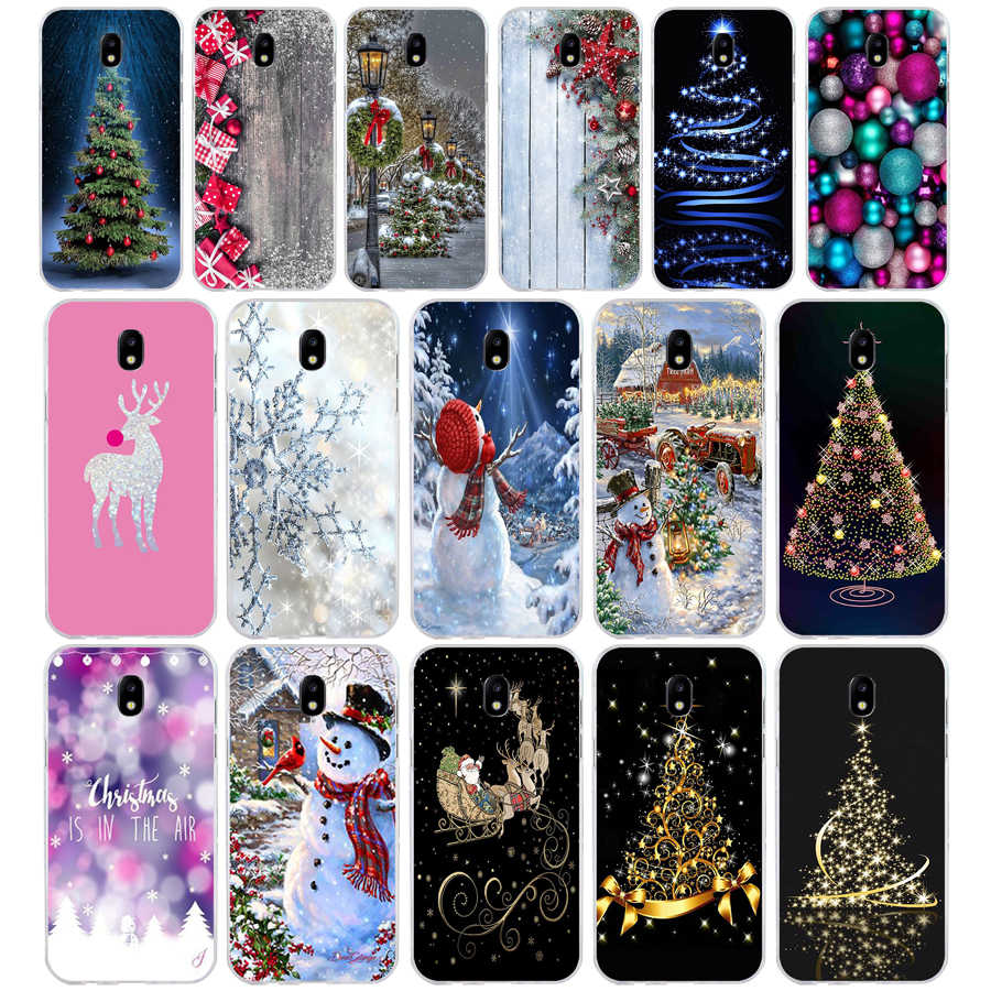 341FG Snowman Colorful Merry Christmas  Soft Silicone Tpu Cover phone Case for Samsung j3 j5 j7 2016 2017 j330 j2 j6 Plus 2018