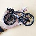 1:10 мини палец горный велосипед литый под давлением модель металлический велосипед гоночная игрушка изгиб дорожная имитация коллекционные ...