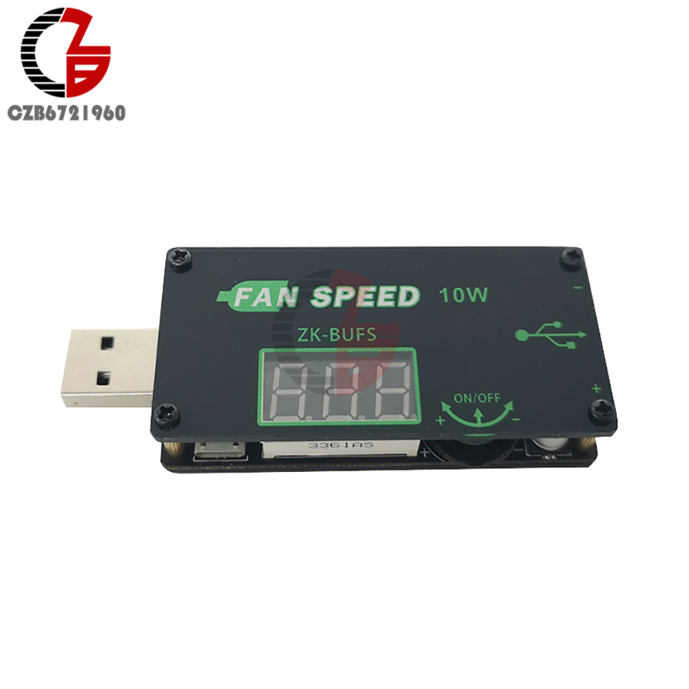 10W <font><b>5V</b></font> 12V USB <font><b>Fan</b></font> Speed Controller Governer Regulator DC <font><b>Motor</b></font> Speed Control Switch LED Dimming Dimmer with Digital Voltmeter image