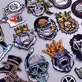 König Orang-utan/Punk Patch DIY/Bär Patch Eisen Auf Patches Für Kleidung Tier Bestickt Patches Für Kleidung Hund/schädel Aufkleber