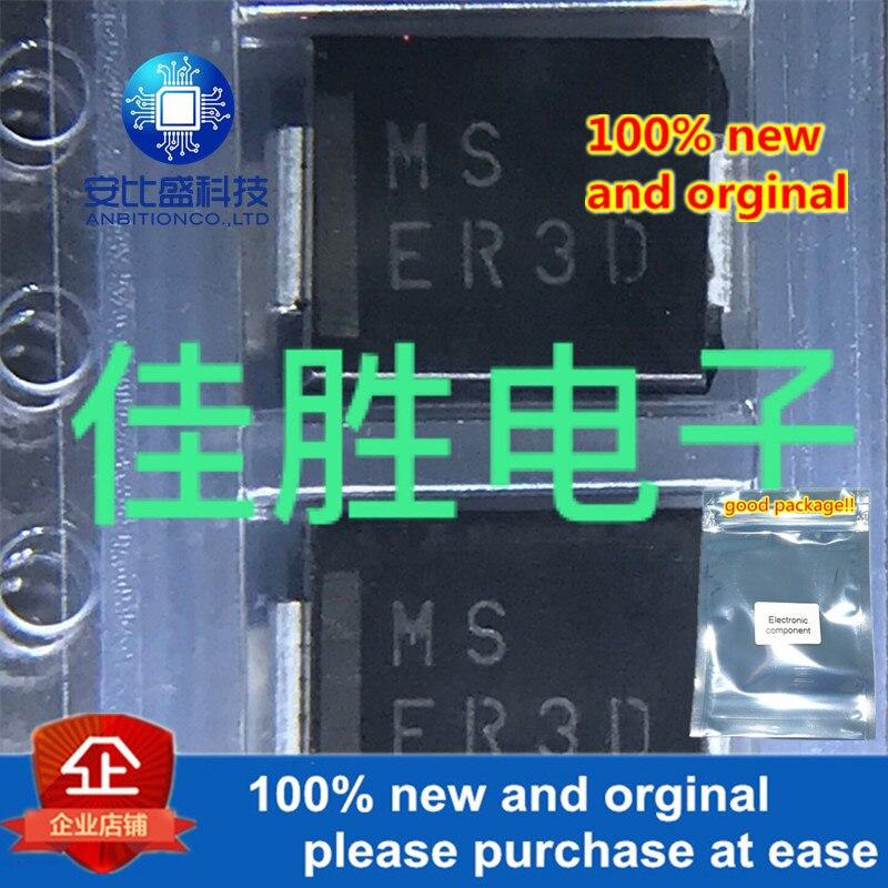 50pcs 100% New And Orginal 3A200V25ns DO214AB Silk0screen ER3D In Stock