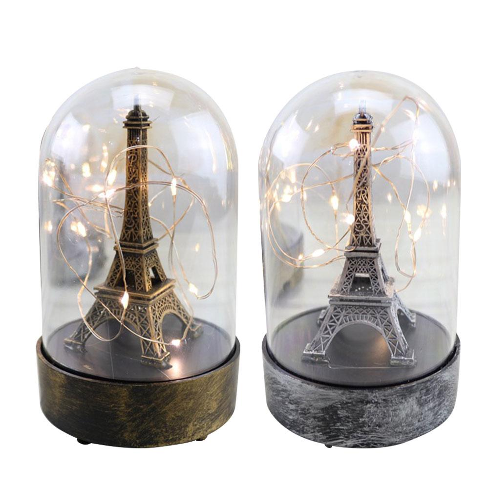Valentine's Day Gift Paris Tower Light Romantic Display Lamp Students Room Decor Bar Cabinet Decoration Lighting Crafts Props